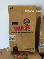 "Buy FULL BOX of ""WAR on Hate"" 1 1/4 Rolling papers by RAW 24 PKS Limited Collectible"