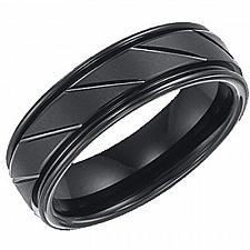 Buy coi Jewelry Black Tungsten Carbide Ring - TG3345(Size:US6)