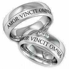 Buy coi Jewelry Titanium Amor Vincit Omnia Ring - JT2078A(Size:#US6)