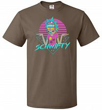 Buy Rad Schwifty Unisex T-Shirt Pop Culture Graphic Tee (S/Chocolate) Humor Funny Nerdy G