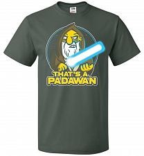 Buy That's A Padawan Unisex T-Shirt Pop Culture Graphic Tee (XL/Forest Green) Humor Funny