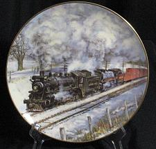 Buy Train Collector Plate Vintage Canadian Railway Frosty Morning Steam on the CPR