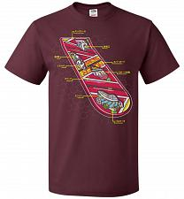 Buy Anatomy Of A Hover Board Unisex T-Shirt Pop Culture Graphic Tee (XL/Maroon) Humor Fun