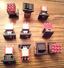 Buy Lots of 10: E-Switch 3003P1R6BLKM1QEBLK Rocker Switches