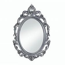 Buy *18073U - Silver Royal Crown Wood Frame Oval Wall Mirror