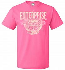 Buy Enterprise Unisex T-Shirt Pop Culture Graphic Tee (S/Neon Pink) Humor Funny Nerdy Gee