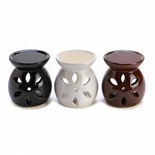 Buy D1292U - Miniature Glazed Ceramic Oil Warmers Floral Cutout