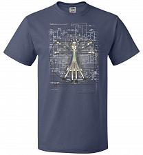 Buy Vitruvian Rick Unisex T-Shirt Pop Culture Graphic Tee (4XL/Denim) Humor Funny Nerdy G
