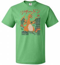 Buy Fire Kaiju Unisex T-Shirt Pop Culture Graphic Tee (5XL/Kelly) Humor Funny Nerdy Geeky