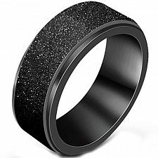 Buy coi Jewelry Black Titanium Sandblasted Ring - JT1984AA(Size US3.5)