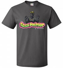 Buy Fresh Panther Unisex T-Shirt Pop Culture Graphic Tee (M/Charcoal Grey) Humor Funny Ne