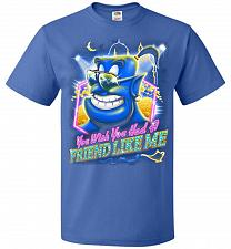 Buy Friend Like Me Adult Unisex T-Shirt Pop Culture Graphic Tee (L/Royal) Humor Funny Ner