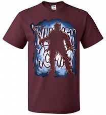 Buy Jason Voorhees Killer Mommy Adult Unisex T-Shirt Pop Culture Graphic Tee (L/Maroon) H