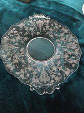 "Buy gorgeous glass decorative serving platter 13"""