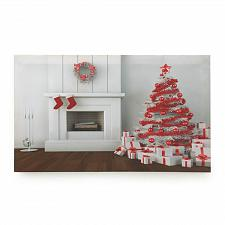 Buy *17148U - Holiday Fireplace & Christmas Tree LED Canvas Wall Art