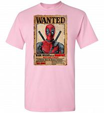 Buy Deadpool Wanted Poster Unisex T-Shirt Pop Culture Graphic Tee (5XL/Light Pink) Humor