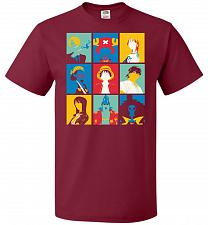 Buy Popiece Art Unisex T-Shirt Pop Culture Graphic Tee (M/Cardinal) Humor Funny Nerdy Gee