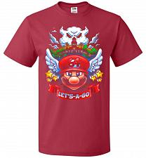 Buy Retro Mario 64 Tribute Adult Unisex T-Shirt Pop Culture Graphic Tee (M/True Red) Humo
