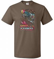Buy Retro Star Lord Unisex T-Shirt Pop Culture Graphic Tee (M/Chocolate) Humor Funny Nerd