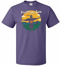 Buy Praise The Sun Unisex T-Shirt Pop Culture Graphic Tee (2XL/Purple) Humor Funny Nerdy