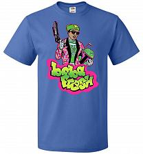 Buy Boba Fresh Unisex T-Shirt Pop Culture Graphic Tee (S/Royal) Humor Funny Nerdy Geeky S