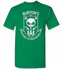 Buy Burton's School Of Nightmares Unisex T-Shirt Pop Culture Graphic Tee (M/Turf Green) H