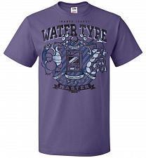 Buy Water Type Champ Pokemon Unisex T-Shirt Pop Culture Graphic Tee (M/Purple) Humor Funn