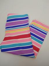 Buy Wonder Nation Girls' Capri Legging Multi Stripe Print Cropped Legs Size M 7-8