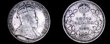 Buy 1907 Canada 5 Cent World Silver Coin - Canada - Edward VII - Lot#9908
