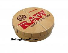 Buy RAW Rolling papers Round Pop-Top Tobacco Smoking Accessories Pocket Storage Tin