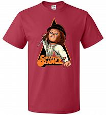 Buy Chuckywork Orange Unisex T-Shirt Pop Culture Graphic Tee (M/True Red) Humor Funny Ner