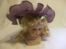 Buy Porcelain Doll Head With Purple Hat & Blond Hair For Crafters And Collectors