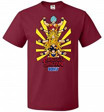 Buy Altered Saiyan Unisex T-Shirt Pop Culture Graphic Tee (M/Cardinal) Humor Funny Nerdy
