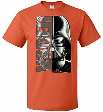 Buy Vader Youth Unisex T-Shirt Pop Culture Graphic Tee (Youth L/Burnt Orange) Humor Funny
