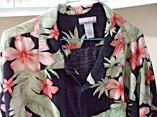 Buy Breakwater Floral Hawaiian Black Tropical Men's Shirt Size XXL Rayon