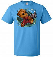 Buy Tiny Groot Unisex T-Shirt Pop Culture Graphic Tee (S/Pacific Blue) Humor Funny Nerdy