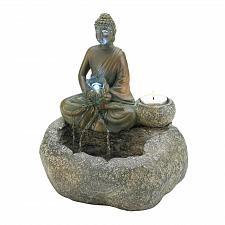 Buy *17965U - Buddha Tea Light Tabletop Tranquility Water Fountain