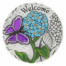 "Buy *18542U - Welcome Purple Butterfly 10"" Cement Garden Stepping Stone"