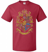 Buy Hogwart's Crest Adult Unisex T-Shirt Pop Culture Graphic Tee (2XL/True Red) Humor Fun