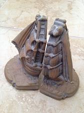 """Buy keeping your favorite tales of adventure safe between 6"""" sailboat bookends"""