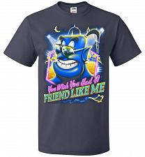 Buy Friend Like Me Adult Unisex T-Shirt Pop Culture Graphic Tee (L/J Navy) Humor Funny Ne