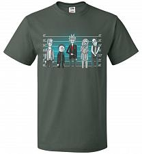 Buy Rick and Morty Unusual Suspects Unisex T-Shirt Pop Culture Graphic Tee (S/Forest Gree