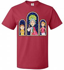 Buy Rick And Morty Stain Glass Unisex T-Shirt Pop Culture Graphic Tee (M/True Red) Humor
