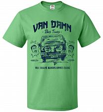 Buy Van Damn Tour Bus Adult Unisex T-Shirt Pop Culture Graphic Tee (2XL/Kelly) Humor Funn