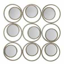 Buy *17275U - Revolution Off White Iron Circle In Circles Metal Round Wall Mirrors