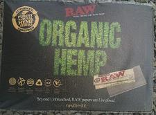 "Buy RAW ""ORGANIC HEMP"" RAW ROLLING PAPER 12""x16"" COUNTER CHECK OUT CHANGE PAD MAT"