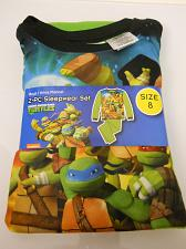 Buy Boys 2 PC Flannel Pajama Set TURTLES TMNT Green Size 8 Long Sleeves Crew Neck