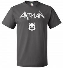 Buy Antman Anthrax Parody Unisex T-Shirt Pop Culture Graphic Tee (2XL/Charcoal Grey) Humo