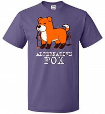 Buy Alternative Fox Unisex T-Shirt Pop Culture Graphic Tee (3XL/Purple) Humor Funny Nerdy