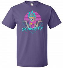Buy Rad Schwifty Unisex T-Shirt Pop Culture Graphic Tee (XL/Purple) Humor Funny Nerdy Gee